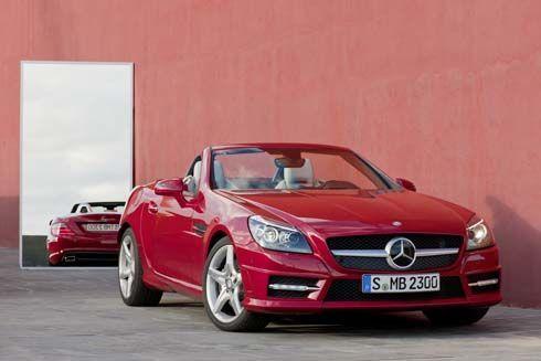 จัดหนัก! Mercedes-Benz ปล่อยภาพชุดใหม่ SLK Roadster หลังคาแข็ง รุ่นปี 2012