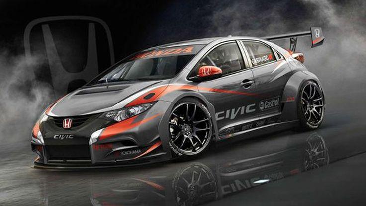 Honda เผยภาพแรก 2014 Civic WTCC แฮทช์แบ็กตัวแข่งทัวริ่งคาร์