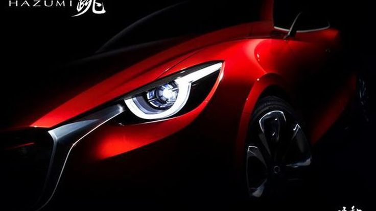 ว่าที่ Mazda 2 เจนใหม่ Mazda Hazumi Concept กรอบไฟสุดดุดัน