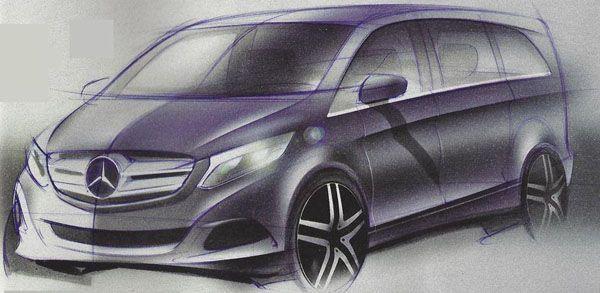 หลุดภาพสเก็ตช์ 2014 Mercedes-Benz Viano รถอเนกประสงค์รุ่นใหม่ล่าสุด
