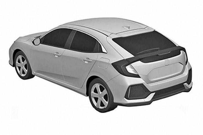หลุดภาพสิทธิบัตร Honda Civic โฉมแฮทช์แบ็กรุ่นโปรดักชั่น