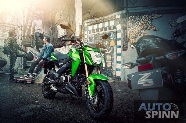 2017 Kawasaki Z125 Pro เบ้าหน้าเปลี่ยนไปนอกนั้นแทบไม่มีอะไรเปลี่ยนแปลง
