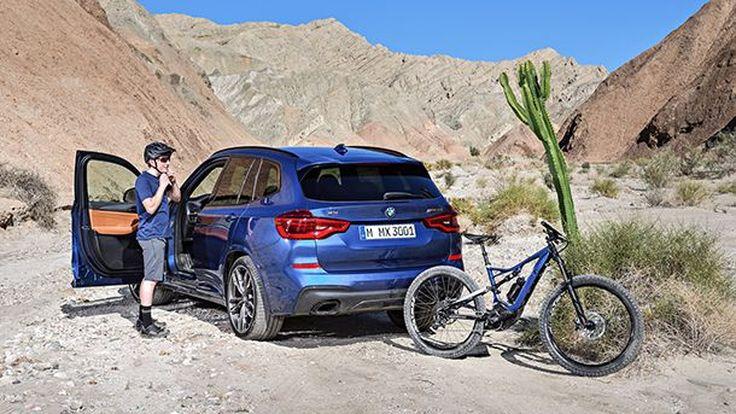 คู่กัน! 2018 BMW X3 มาพร้อมจักรยานเสือภูเขาพลังไฟฟ้า
