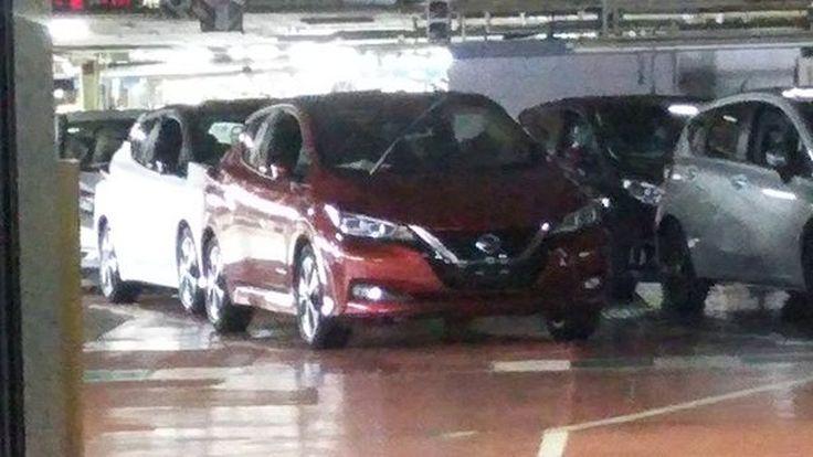 สปายช็อต 2018 Nissan Leaf เหมือนถูกแอบถ่ายในโรงงาน