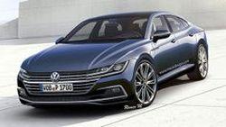 ภาพการออกแบบ Volkswagen Passat CC ซีดานหรูรุ่นใหม่ ที่มาพร้อมเส้นสายที่เฉียบคมกว่าเดิม