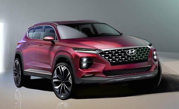 เปิดภาพสเก็ตช์ 2019 Hyundai Santa Fe รุ่นใหม่เปิดตัวภายในเดือนนี้