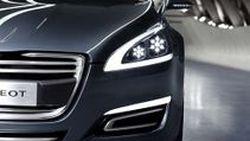5-by-Peugeot ซีดานแนวคิด รอคลอดเป็น Peugeot 508 Sedan ตรวจสุขภาพก่อนที่ Geneva