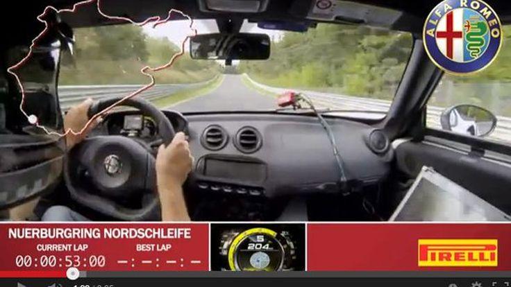 ชมคลิป Alfa Romeo 4C โชว์สมรรถนะและเสียงเพราะๆสร้างสถิติในเนอร์เบิร์กริง