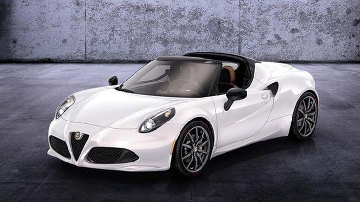 เปิดผ้าคลุม Alfa Romeo 4C Spider ว่าที่รถสปอร์ตเปิดประทุนขายปีหน้า