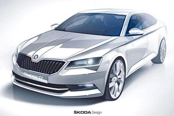 ทีเซอร์อีกรอบ Skoda Superb ภาพสเก็ตช์ดูคุ้นตา