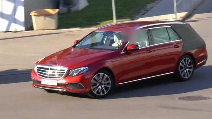 SpyShot ว่าที่รถยนต์เอสเตทรุ่นใหม่อย่าง 2017 Mercedes E-Class Estate