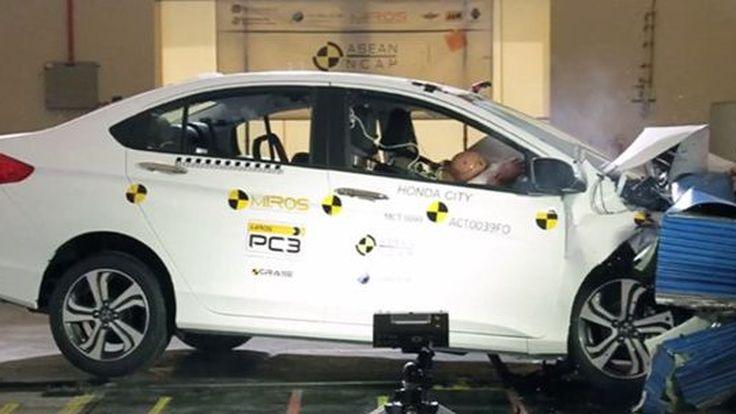 Honda City ทำคะแนนความปลอดภัยสูงสุดของ ASEAN NCAP