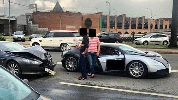 ประกันกุมขมับ Aston Martin ชนท้าย Bugatti Veyron พังยับ