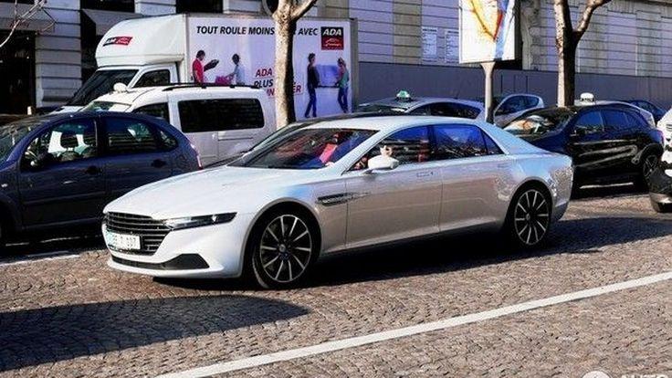 แอบถ่าย แอสตัน มาร์ติน ลากอนดา รถยนต์ 4 ประตูสุดหรูรุ่นใหม่ ใจกลางเมืองปารีส