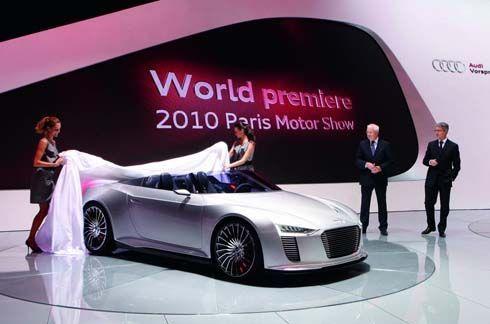 Audi e-Tron Spyder Concept ซุปเปอร์คาร์ไฮบริดเปิดประทุน สมรรถนะดี ประหยัดน้ำมันสุดๆ