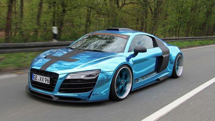 Audi R8 แต่งหวือหวาด้วยตัวถังสีฟ้าแนวอวกาศโดยสำนัก XXX-Performance