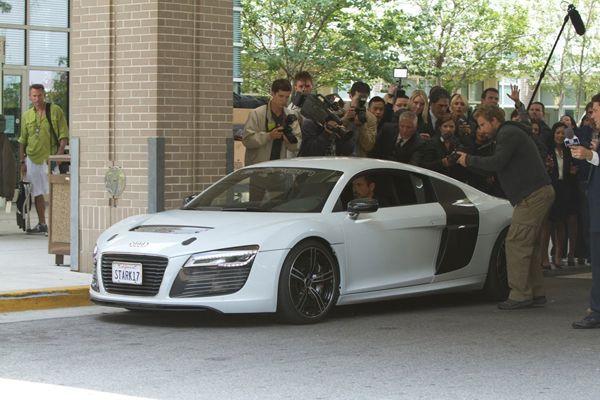 จับตา Audi R8 e-tron ซูเปอร์คาร์พลังไฟฟ้าโชว์ตัวใน Iron Man ภาค 3