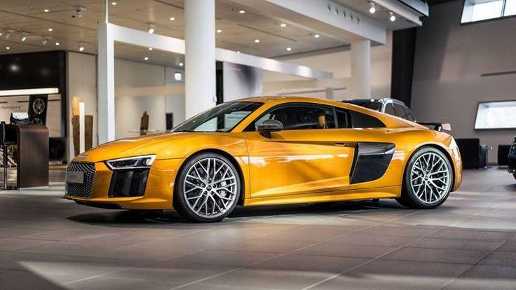 พาชม Audi R8 V10 Plus สีส้มทอง งามอร่ามหรูหัวจรดท้าย
