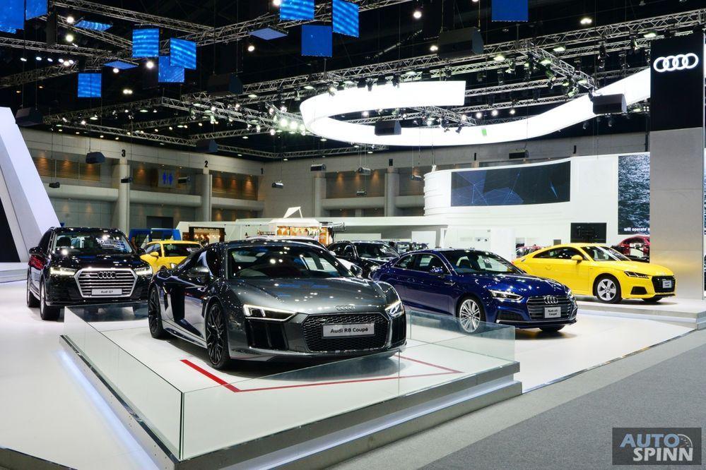 TIME2017: พาชมรถยนต์ใหม่ค่าย Audi นำทัพโดย Audi R8 Coupé V10 กับค่าตัว 18.999 ล้านบาท