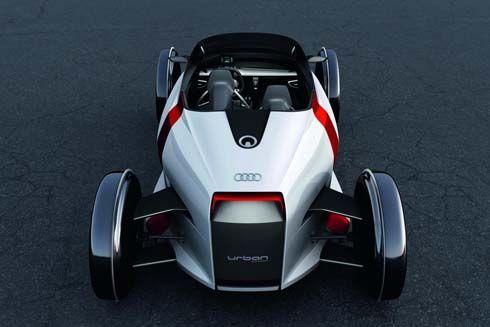 Audi Urban Concept ซิตี้คาร์พลังงานไฟฟ้า 1+1 ที่นั่ง ขับเคลื่อนด้วยมอเตอร์ 2 ตัว