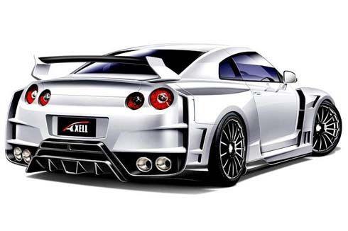 Axell Auto อวดภาพชุดแรก Nissan GT-R ในชุดแต่งใหม่ ก่อนเปิดตัวที่ 2011 Tokyo Auto Salon