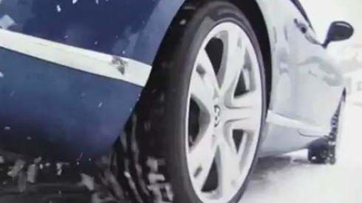 Bentley Continental GT มาแปลก! โชว์พาวพร้อมแชมป์โลก Ski Joring 16 สมัย