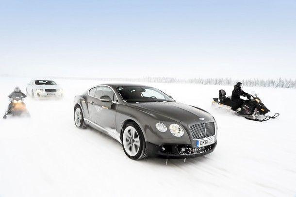 BENTLEY CONTINENTAL GT3-R  โชว์สมรรนะบนถนนน้ำแข็งที่ ICE POWER 2015