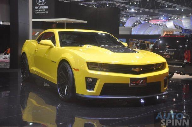 [BIMS2014] พบกับ Bubblebee ตัวแรง Chevrolet Camaro ZL1  เหลืองสะดุดตา ก่อนชม Transformer 4
