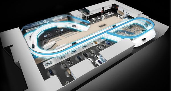 BMW ล้ำสุด! สร้างสนามทดสอบไว้ในบูธที่แฟรงก์เฟิร์ต มอเตอร์โชว์