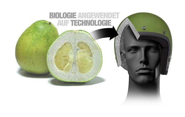 """BMW พัฒนาหมวกนิรภัยได้แรงบันดาลใจจาก """"ส้มโอ"""""""