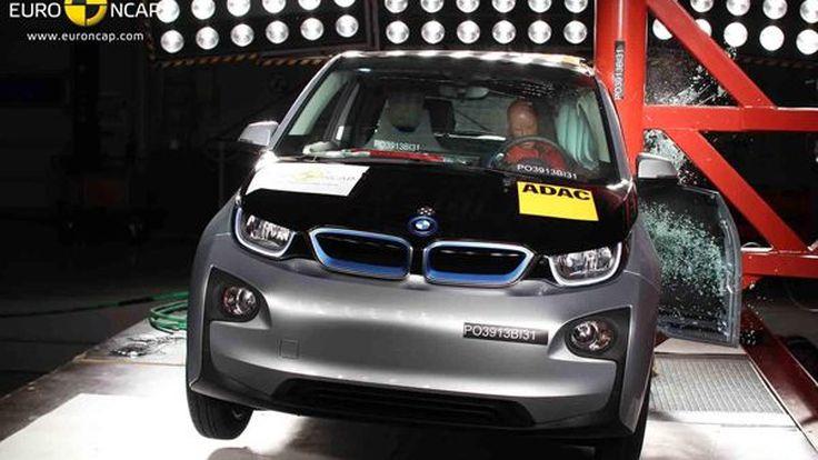 BMW i3 ได้คะแนนทดสอบการชนเพียง 4 ดาวจาก Euro NCAP