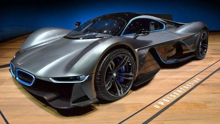 ชมภาพ เรนเดอร์ BMW M Hypercar ที่ใช้รถอย่าง Aston Martin Valkyrie เป็นต้นแบบ