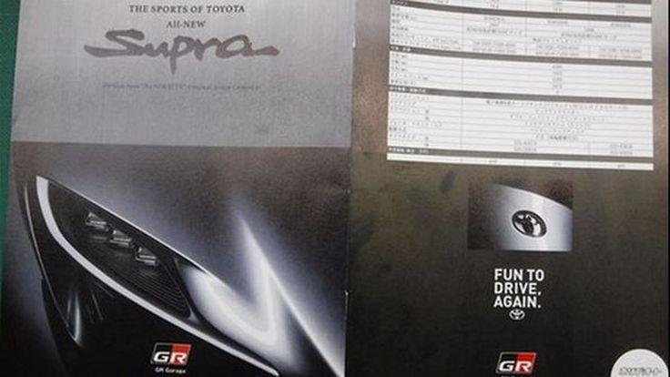 หลุด!? ภาพโบรชัวร์ Toyota Supra ใหม่ ขุมพลังเทอร์โบชาร์จ