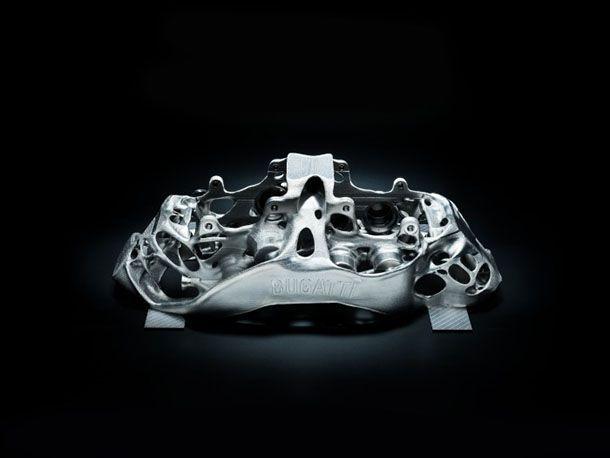 Bugatti โชว์คาลิปเปอร์เบรกขนาดบิ๊กเบิ้ม ผลิตด้วยเครื่องพิมพ์ 3 มิติ