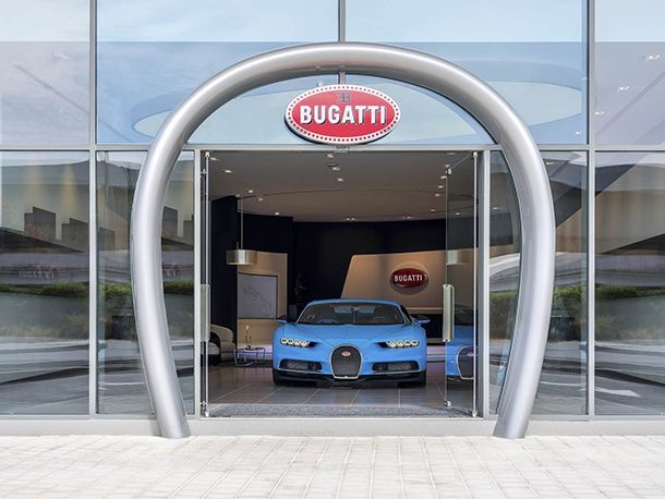 Bugatti เปิดโชว์รูมที่ใหญ่ที่สุดในโลกที่ดูไบ