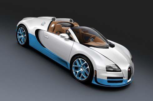 Bugatti Veyron 16.4 Grand Sport Vitesse SE รุ่นพิเศษสีขาวสลับฟ้ารำลึกถึงรถแข่ง