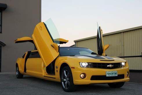 Chevrolet Camaro Bumblebee Transformers Edition ถูกปรับโฉมเป็นรถลีมูซีน