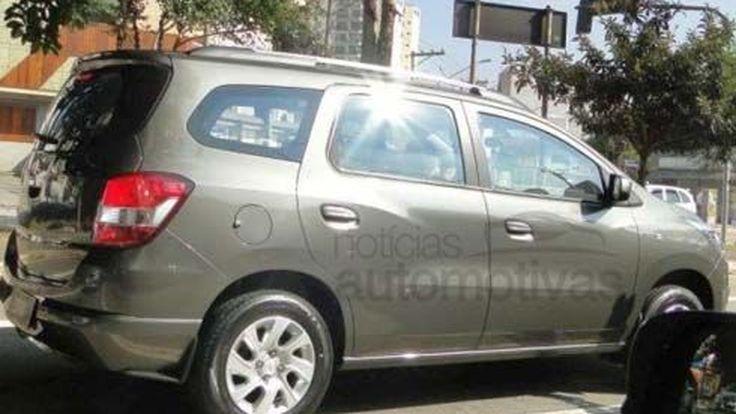Chevrolet Spin LTZ ถูกจับภาพได้ ขณะกำลังถ่ายทำโฆษณาในประเทศบราซิล