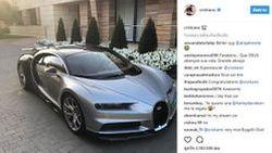 """คริสเตียโน่ โรนัลโด้ รับมอบแล้ว """"Bugatti Chiron"""" ไฮเปอร์คาร์พลังโหด"""