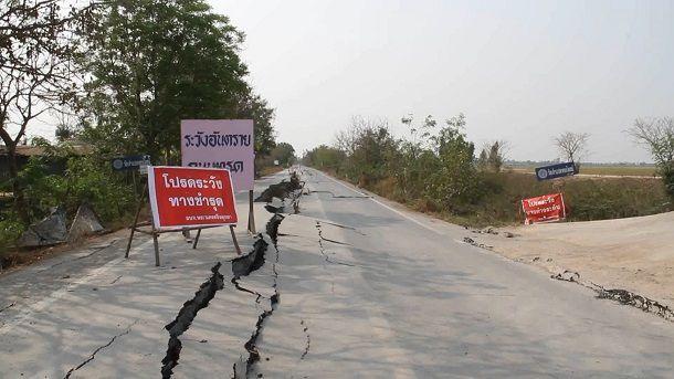 ทางหลวงชนบท เฝ้าระวังถนนทรุดตัวช่วงหน้าแล้ง 2 จังหวัด ปทุมธานี-อยุธยา