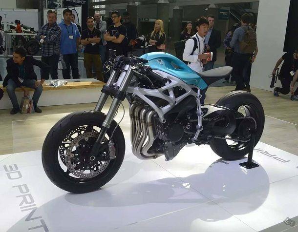 โชว์เหนือมอเตอร์ไซต์ปริ้นท์ 3D วางเครื่องยนต์ Kawasaki H2