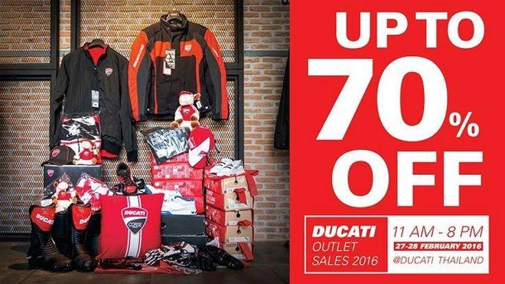 Ducati Outlet Sales 2016 ลดกระหน่ำรับต้นปีสูงสุดถึง 70%