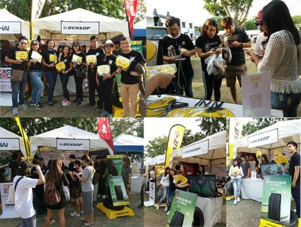 Dunlop Booth at Unique running Ayutthaya