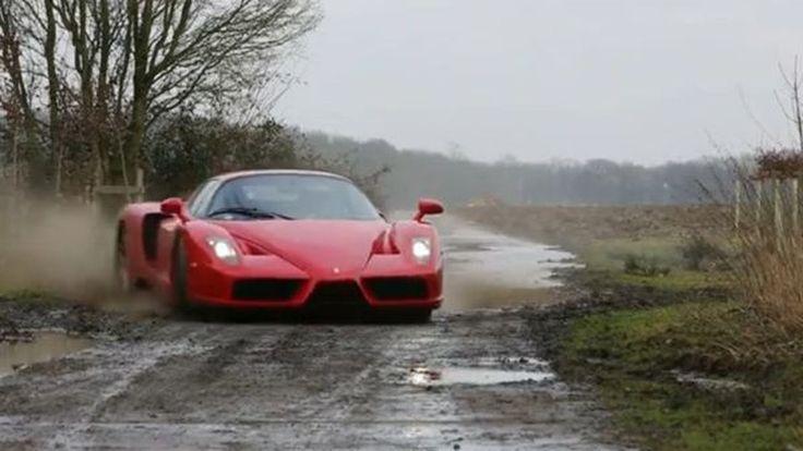 เสียดายมั้ย? หนุ่มนิรนามขับ Ferrari  Enzo ลุยทางฝุ่นแบบแรลลี่ แถมดริฟท์อย่างโหด