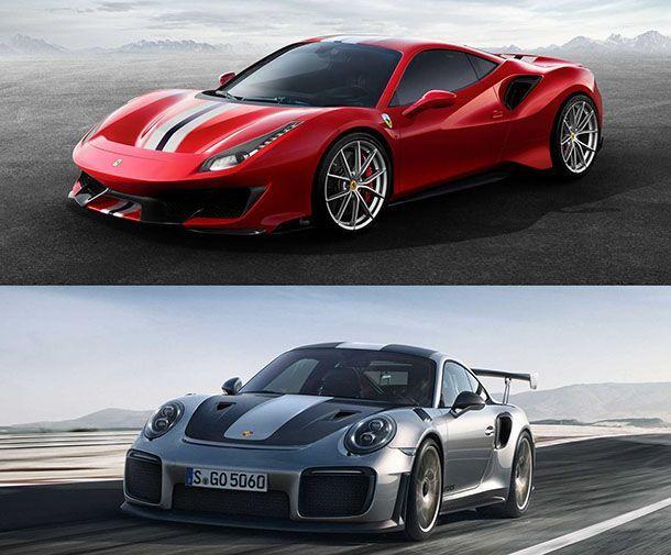 รุ่นไหนดี? เทียบสเปกขุมพลัง Ferrari 488 Pista ปะทะ Porsche 911 GT2 RS