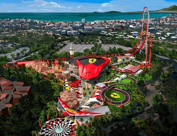 """เก็บเงินรอเลย! สวนสนุก """"Ferrari Land"""" เริ่มก่อสร้างแล้ว"""