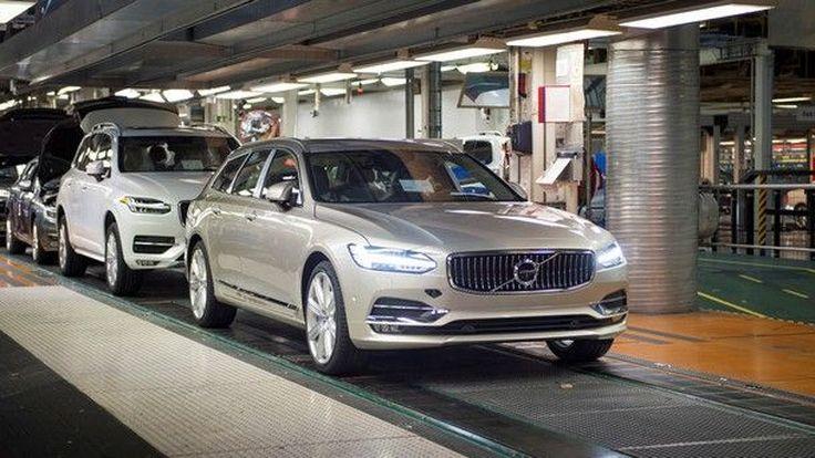 เริ่มเดินสายผลิต Volvo V90 เวอร์ชั่น Station Wagon แล้วในประเทศสวีเดน