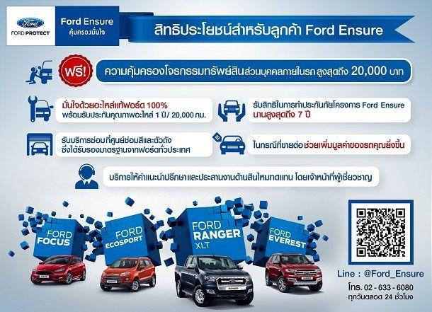ฟอร์ด ยกระดับการบริการหลังการขาย เปิดตัว Ford Ensure