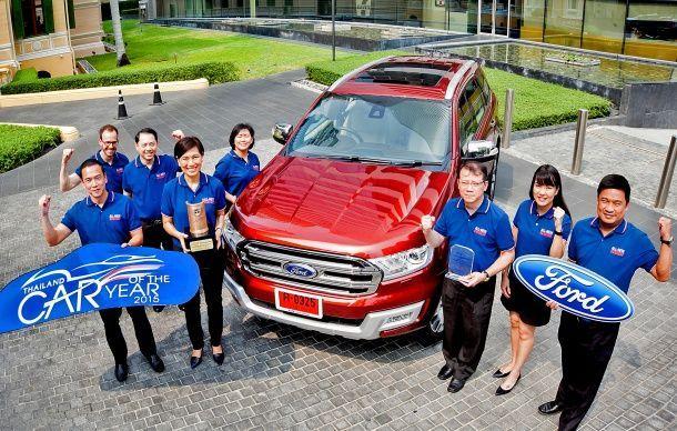 ฟอร์ด เอเวอเรสต์ ใหม่ คว้ารางวัลรถยนต์ยอดเยี่ยมประจำปี 2558 จากสมาคมผู้สื่อข่าวรถยนต์และจักรยานยนต์ไทย