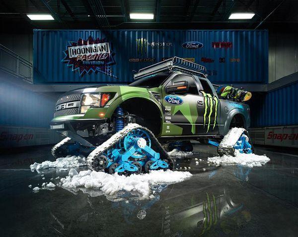 ของเล่น Ken Block รถกระบะตะลุยหิมะ Ford F-150 RaptorTRAX